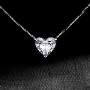 Jewelry - 2.5 Carat Solitaire Heart Shape Diamond Pendant Ne